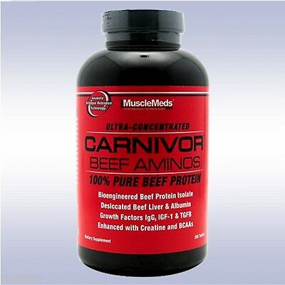 MUSCLEMEDS CARNIVOR BEEF AMINOS (300 TABLETS) bcaa keto mass shred muscle growth