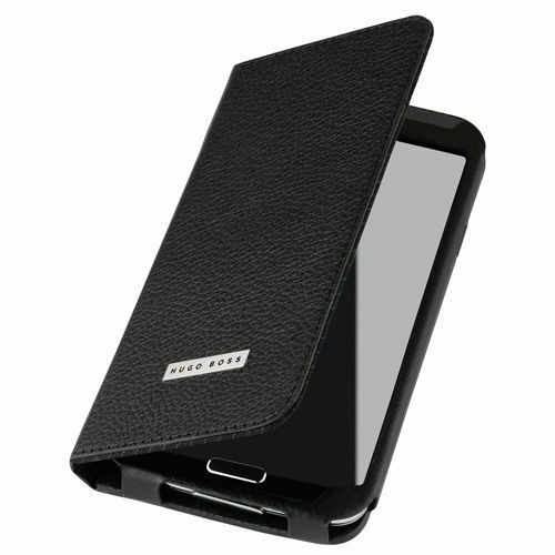 Genuine Leather Hugo Boss Folianti Flip Wallet Case for Samsung Galaxy S5 Black