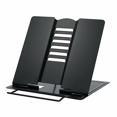 Metal Book Stand for Desk, Recipe Cookbook Stand for Kitchen, Book Black