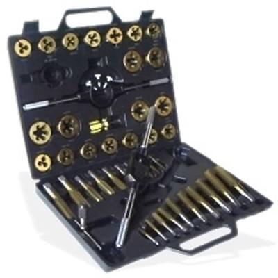 Large Metric Titanium Tap And Die Set Metal Threader Threading Tool Kit