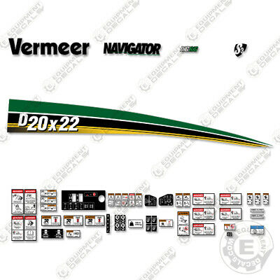 Vermeer D20x22 Decal Kit Directional Boring Machine Horizontal Drill Series 3