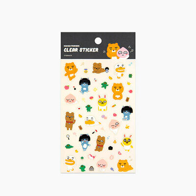 Kakao Little Friends WEARE Transparent Sticker Cute Ryan Apeach Tube Muzi 1EA