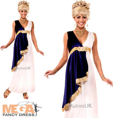 Toga Party Outfit (Grecian Maiden Ladies Fancy Dress Roman Toga Party Womens Adults Costume)