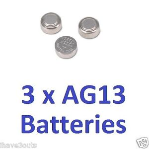 3 x AG13 LR44 Cell Batteries Watch Button Coin L1154 157 303 357 A76 Battery | eBay