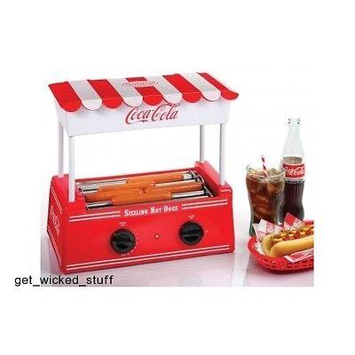 Coca-cola Hot Dog Roller Bun Warmer Mini Electric Grill Nostalgia Series