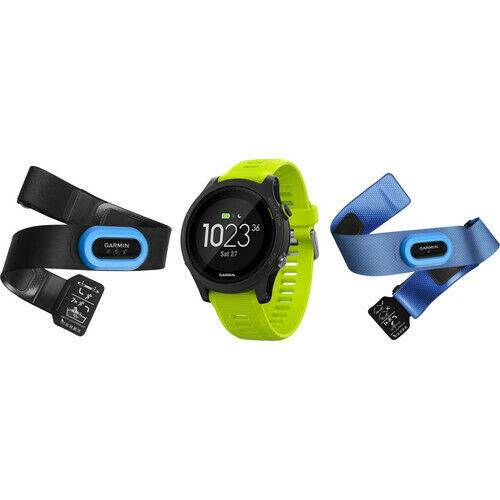 Garmin Forerunner 935 GPS Heart Rate Monitor Watch Bundle Green/black 010-01746-02