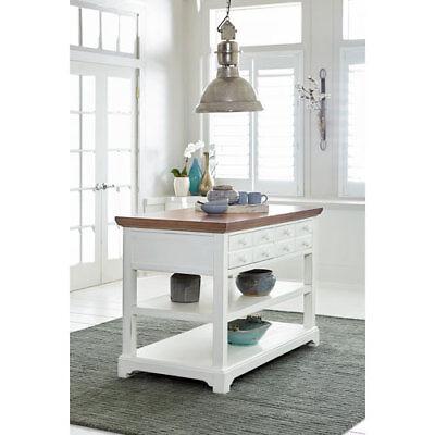 Progressive Furniture Light Oak/Distressed White Kitchen Island - D884-45 for sale  Minneapolis