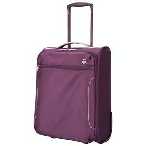 Benetton Firewall 2 pc 2-Wheel Spinner Luggage-Purple-NEW in box