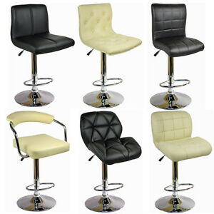 FAUX-LEATHER-BAR-STOOLS-PU-SWIVEL-STOOL-KITCHEN-BREAKFAST-PUB-OFFICE-BARSTOOLS