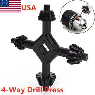 4-way Drill Press Chuck Key Size 38-12 Universal Combination Hand Wrench Usa