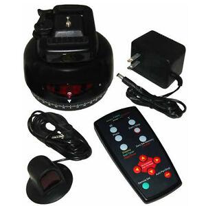 Motorized automatic pan tilt head amp remote control ebay for Pan and tilt head motorized
