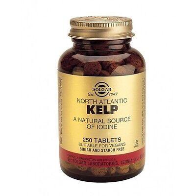 Solgar North Atlantico Kelp Compresse - 250 tabs - un naturale fonte di Iodio