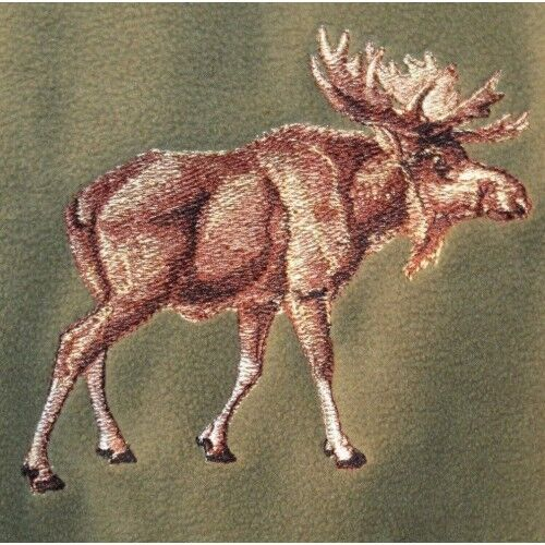 Embroidered Fleece Jacket - Moose BT4132 Sizes S - XXL