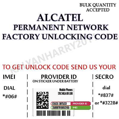 Unlock Code Modem Alcatel LinkZone MW40CJ MW40V MW40VD MW41MP MW41NF MW41TM