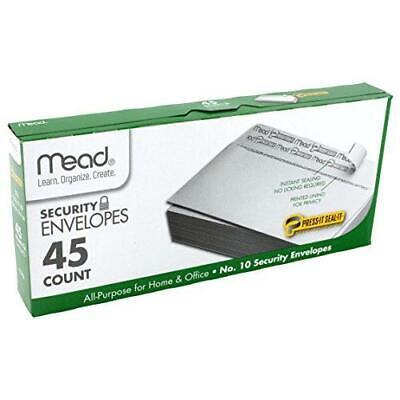 Mead No.10 Envelopes Security Press-it Seal-it 4-18 X 9-12 White 45 Per