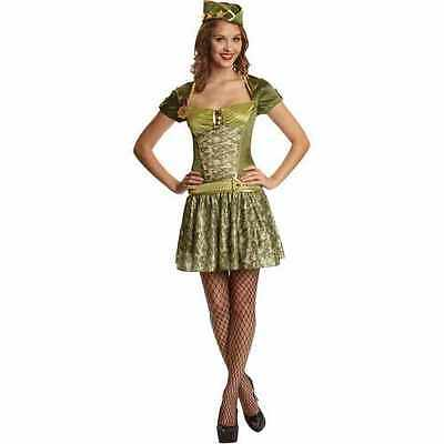 Sassy Sergeant Sargent Army Military Dress Woman Adult Costume Small 4-6 New - Army Woman Costume