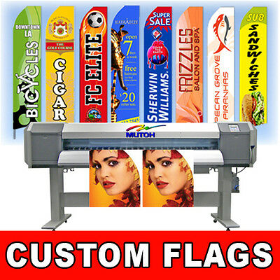 15' Full Color Custom Tall Swooper Advertising Flag Feather Banner Digital - Flag Banner