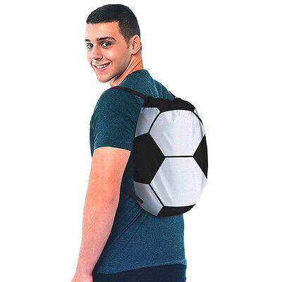SOCCER DRAWSTRING SLING BACKPACK ~ Sports Birthday Party Supplies Favor Football