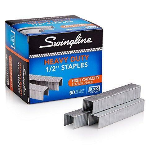 Swingline Staples, Heavy Duty, 1/2 Length, 90 Sheet Capacity, 100/Strip, 1 Pack
