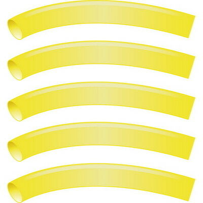 5 Pack Yellow 3/4 Inch x 48 Inch 3:1 Heat Shrink Tubing with Sealant for Boats