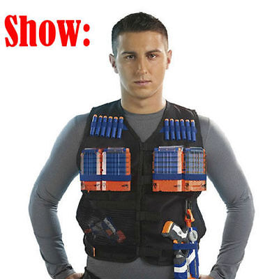 Tactical Vest Kids Toy Gun Clip Jacket Foam Bullet Ammunition Holder For Nerf NI