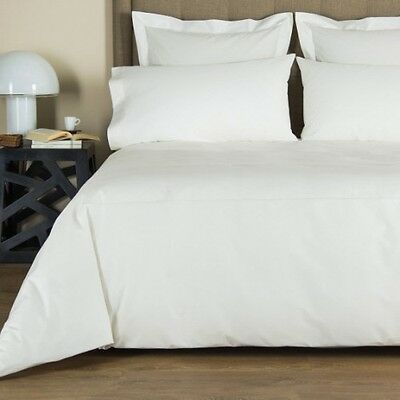Frette Hotel Italian Luxury Queen One Bourdon Duvet Cover Ivory/Ivory. NIP.