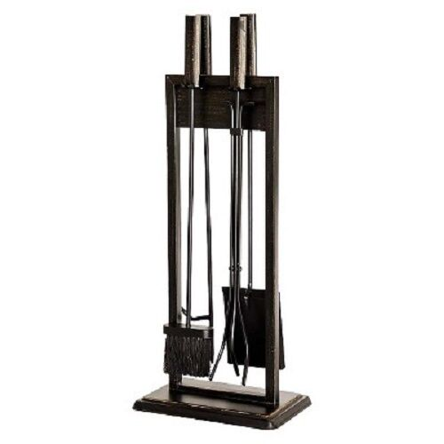 Threshold™ Mission Fireplace Toolset - Black/Brushed Bronze