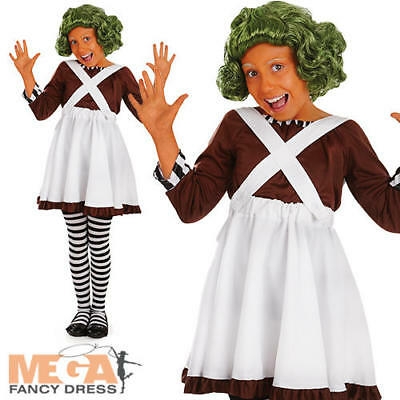 Oompa Loompa Girls Fancy Dress Willy Wonka World Book Day Kids Childs Costume - Willy Wonka Oompa Loompa Costumes
