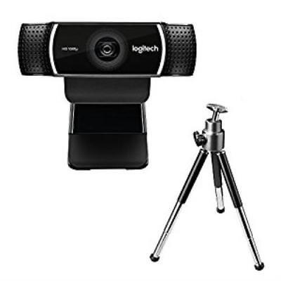 N Logitech C922 Pro Stream Webcam 1080p HD Camera for Streaming Recording 60 FPS