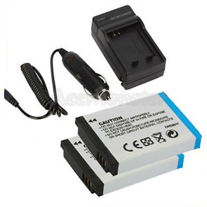 2x SLB-10A Battery +Charger For Samsung SL202 SL420 SL502 SL620 SL720 L310W L313