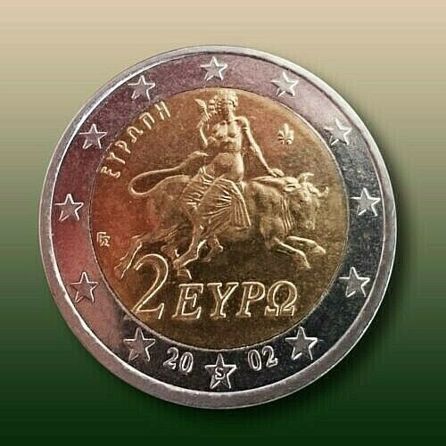 "2 Euro RARE Coin 2002 / ""S"" on the star /  Unc."
