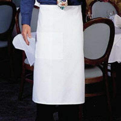 4 New White Blanco Bistro Apron 1 Pocket Chef Commercial Quality Super Nice