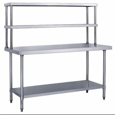 Stainless Steel Work Prep Table 30 X 72 With Double Overshelf