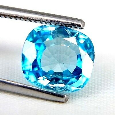 TOP ZIRCONE : 3,68 Ct Natürlicher Blau Zirkon aus Kambodscha