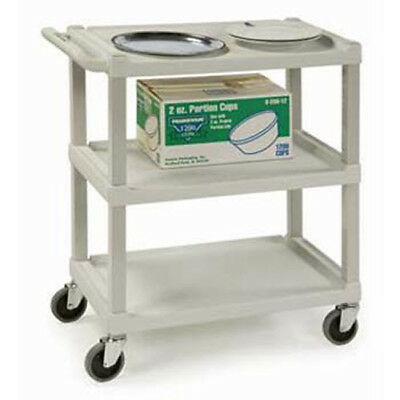 Compact Plastic Utility Cart - Beige