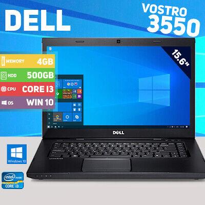 "Dell Vostro 3550 Laptop - Windows 10 - 500GB HDD - 4GB memory - 15.6"""