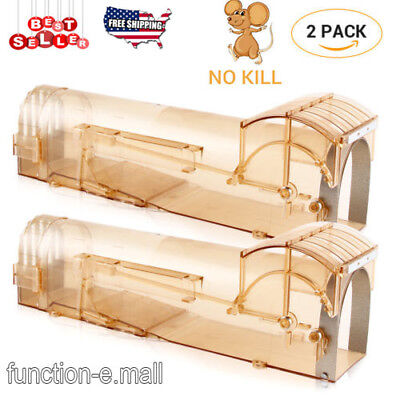 2Pcs Automatic Mice Rat Catching Tool Human Mousetrap No Kill Mice Catch (Browns Rat Mouse)
