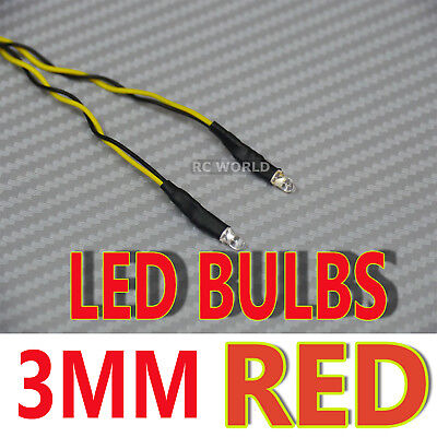 RC LED BULBS Pair On One Line 3mm RED