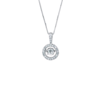 Suspended Diamond - White Gold Necklace