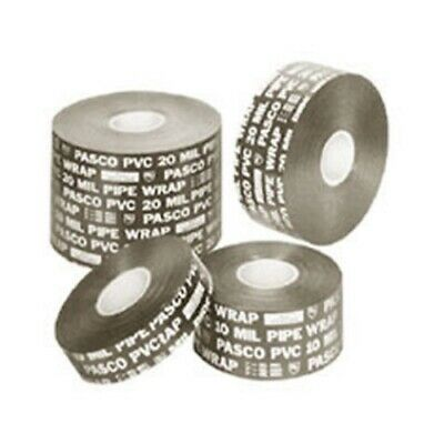 Pasco 9052 2 X 100 Ft 10mil Pvc All Weather Plastic Protection Pipe Wrap Tape