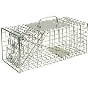 SQUIRREL RODENT WIRE CAGE TRAP LIVE CATCH & HUMANE POISON FREE ANIMAL CAPTURE