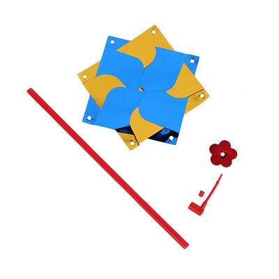 2PCS F12 Kids Child Plastic Pinwheels Toy Home Outdoor Decor DIY Windmill - Diy Pinwheels