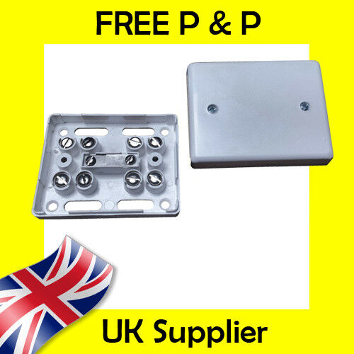 White 7 Way Burglar Alarm Connection Junction Boxes Connector with Leaf Tampers