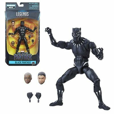 Single Black Panther T'Challa Marvel Legends 6-Inch Action Figure Movie in hand