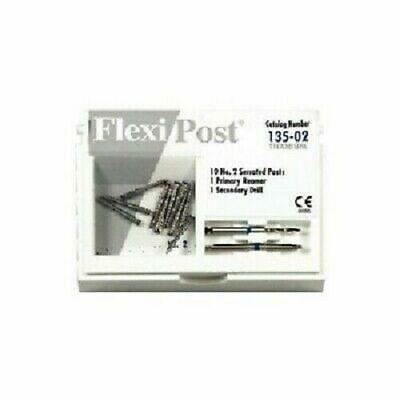 Eds Flexi Post 2 Blue Titanium Post Refill - 10 Serrated Post Refill