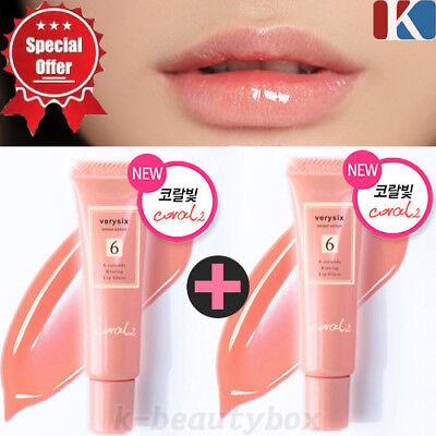 Lip Stain Gloss (1+1 LIP GLOSS Moisture Full Lip Gloss 10ml CORAL / Lip Stain Korean Cosmetics)