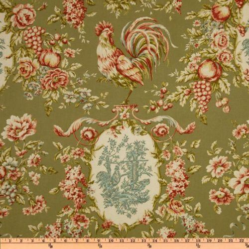 Waverly Rooster Fabric Ebay
