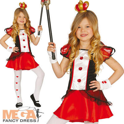 Queen of Hearts Girls Fancy Dress Tale Kids World Book Day Character Costume  - Female Fairytale Characters