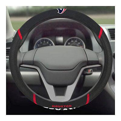 Brand New NFL Houston Texans Black Mesh Extra Grip Steering Wheel Cover