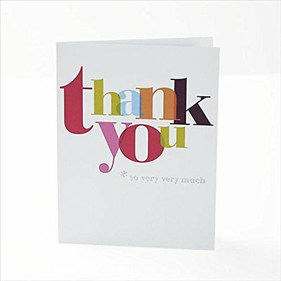 Pack of 10 Multi Coloured Quality Thank You Cards New Teacher Anyone Thanks GIft